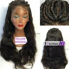 """Natural Silky Straight 100% Indian Remy Human Hair 12""""-24"""" Lace Front/Full Wig"""