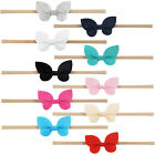 1 Pc Butterfly Hair Bows Headband With Elastic Nylon Hair Band For Baby Girls