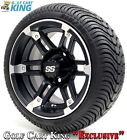 """Golf Cart Wheels and Tires - 12"""" Barracuda SS & (215/35-12 or 215/50-12) (x4)"""