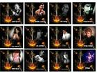 POP STARS & SINGE Square coasters  SETS OF 1-2-4 OR 6 Coasters 12 TO PICK FROM