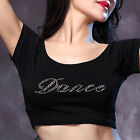 New Soft Belly Dance Costume Short Sleeve Top M L