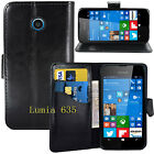 NEW BLACK WALLET LEATHER GEL CASE WITH CARD SLOT FOR Microsoft Nokia...