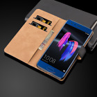 Luxury Genuine Real Leather Flip Case Wallet Cover Stand For Huawei Mobile Phone New