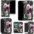 hard durable case cover for iphone & other mobile phones - purple floral skull