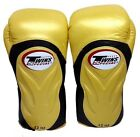 NEW DESIGN TWINS BOXING GLOVES BGVL-6 YELLOW GOLD SPECIAL MUAY THAI MMA FIGHTING