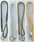 Multi Color Braided Leather Necklace Lanyard keychain for ID badge, box packing