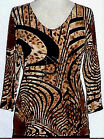 Valentina Top Multi Colored Blouse Style Animal Print Studed Polly NWT Sz Small