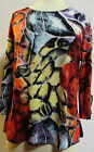 Valentina Top Multi Colored Ribbon Style  8761 Polly NWT  Size Large