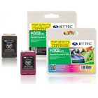 H302XL JetTec Black & Colour High Capacity Remanufactured Ink Cartridges HP302XL