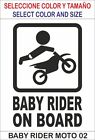 vinilo adhesivo, pegatina, sticker, decal vinyl BABY RIDER ON BOARD MOTO 02