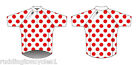 Cycle Bike King of the Mountains Cycling Jersey Red / White Polka Tour De France