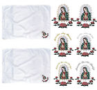 Baby Christening Baptism White BLANKET w/ Gold Silver Embroidery Guadalupe Maria