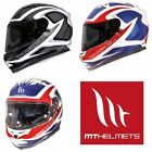 MT Blade Morph Full Face Motorcycle Helmet Black/White With Free Pinlock Insert