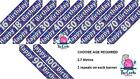 Birthday Banner Streamers Party Design Choose Age 16,18,21,30,40,50,60,65,70 etc