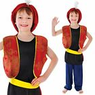 Boys Arabian Genie Aladdin Arab Costume Childrens Book Week Fancy Dress Costume