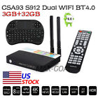 S912 Octa Core 3+32G Smart TV BOX Android 17.0 Full Load +Keyboard LOT G