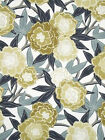 Floral Drapery Fabric, Robert Allen Peony Vine Dew Home Decor Fabric by the yard