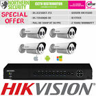 HIKVISION 4CH 2MP HD-TVI BNC 4 Camera DVR COMPLETE CCTV KIT SECURITY SYSTEM