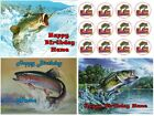 EDIBLE CAKE TOPPER OR CUPCAKES FISHING BASS  TROUT  CAT ICING SUGAR SHEET PARTY