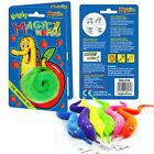 MAGIC TRICK NEON COLOURED WIGGLY WRIGGLY WORM ~ BOY GIRL FUN PARTY BAG FILLERS