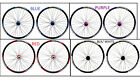 "26"" QR DISC BRAKE MTB WHEELS 8/9/10 SPEED CASS DOUBLE WALL V  RIMS, COLOURS"