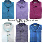 New Kenneth Cole Men's Reaction Wrinkle Free No Iron Slim Fit LS Dress Shirt
