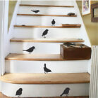 Little Bird Sticker Decals, Cute Sparrow Wall Vinyls For Stairs Or Walls, a54