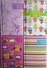 Slimline A7 Padded A-Z A to Z Address Book. Stripes Owls Mushrooms or Bird