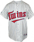 NEW Minnesota Twins Majestic Adult Replica Baseball Jersey White Pin NWT