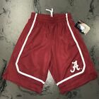 University of Alabama Youth Boy's Crimson Athletic Shorts with White Stripes