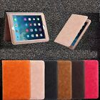 Luxury PU Leather Wallet Smart Stand Case Cover For iPad 2 3 4 5 6/Mini/Pro/Air