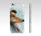 Phone Case for Iphone Samsung Galaxy Dog 132 Collie blue art L.Dumas
