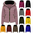 New Ladies Jacket Coat Fur Collar New Quilted Puffer Warm Padded Bubble 6-14