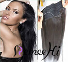 """20"""" Halo Style Remy Hair Invisible Wire Human Hair Extension 80g/100g/120g"""