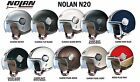 NOLAN N20 OPEN FACE MOTORCYCLE HELMET - SCOOTER, CLASSIC, CAFE, CUSTOM - ITALIAN