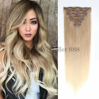 """6A Clip In Human Hair Extensions Straight Mixed Color 8/60# 16"""" - 22"""" Available"""