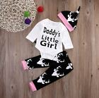 Daddy's Little Girl 3 piece Outfit.Set.Top.Pants.Hat.Casual. Smart. Party.Gift