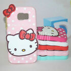 HelloKitty Cartoon Silicone Back Case Cover For Samsung Galaxy S6 & S7 & Note 5