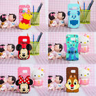 Mickey Stitch Disney Cartoon Silicone Case Cover for Samsung Galaxy S6 S7 Note 5