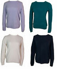 Womens Ladies Long Sleeve Round Necked ex M&S Classic Jumper Soft Sizes 8-24