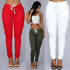 US STOCK Women Denim Skinny Pants High Waist Stretch Jeans Slim Pencil Trousers