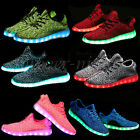Unisex 7 color LED Light Lace Up Luminous Sneaker Shoes USB rechargeable Casual