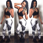Womens Yoga Workout Gym Leggings Fitness Sports Trouser Athletic Pants US Stock