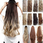 Uk Seller Clip-in Hair Extensions Full Head one piece straight curly all colours