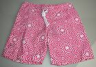 110 New Oscar de la Renta Boy's Swimwear Surfer Board Shorts Pink White 5 6