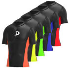 Mens Compression Half Sleeve  Base Layer Top  Thermal Running Gym Sports Shirt