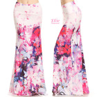 Painterly Floral Sublimation high waist fold over maxi long skirt (S/M/L/XL)