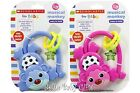 Scholastic ~ QUALITY ~ Musical Monkey Rattle Baby Toy - Pink or Blue