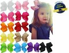 12PC Hair Bows 6 Inch Baby Girls Big Ribbon Clips Large Huge Grosgrain Alligator
