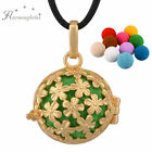18K gold filled Aromatherapy DIY Necklace Essential Oils Diffuser Locket Pendant